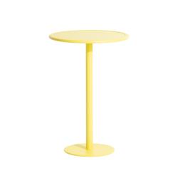 Table et table basse extérieur Mange-debout WEEK-END rond PETITE FRITURE