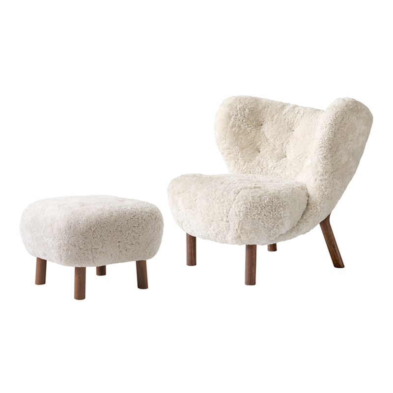 Fauteuil And tradition LITTLE PETRA VB1 & Pouf ATD1