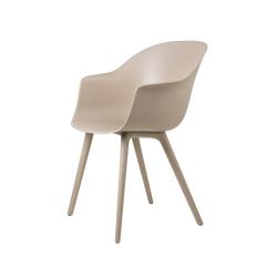 Chaise et petit fauteuil extérieur BAT OUTDOOR GUBI