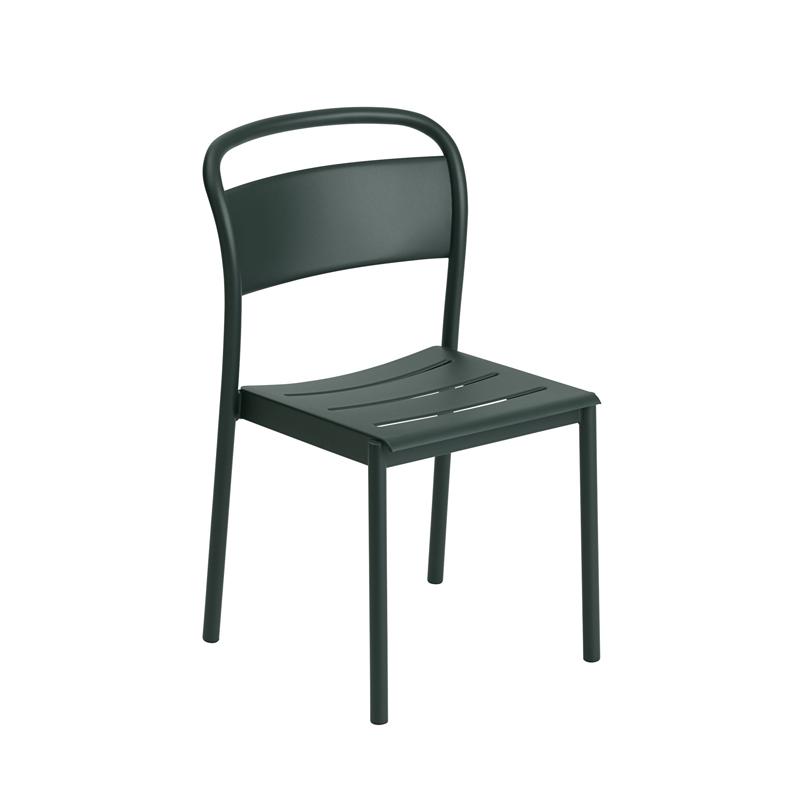 Chaise et petit fauteuil extérieur Muuto LINEAR STEEL