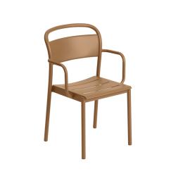 Chaise et petit fauteuil extérieur LINEAR STEEL MUUTO
