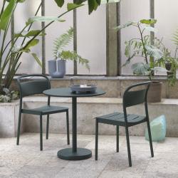 Table et table basse extérieur Muuto LINEAR STEEL CAFE Ø 70