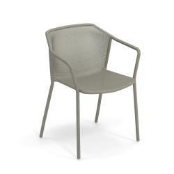 Chaise et petit fauteuil extérieur DARWIN avec accoudoirs EMU