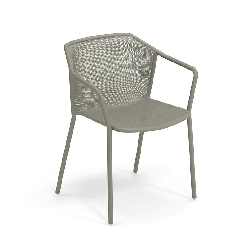 Chaise et petit fauteuil extérieur Emu DARWIN avec accoudoirs