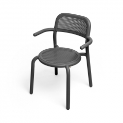 Chaise et petit fauteuil extérieur TONÍ avec accoudoirs Lot de 2 FATBOY