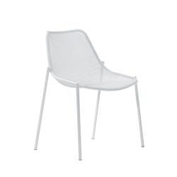 Chaise et petit fauteuil extérieur ROUND EMU