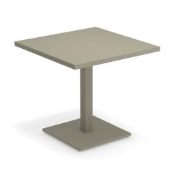 Table et table basse extérieur ROUND 80x80 EMU