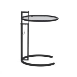 Table d'appoint guéridon ADJUSTABLE TABLE E1027 Noire CLASSICON