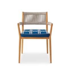 Chaise et petit fauteuil extérieur DINE OUT CASSINA