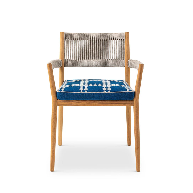 Chaise et petit fauteuil extérieur Cassina DINE OUT