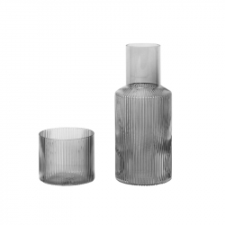 Carafe & verre Set carafe et verre RIPPLE FERM LIVING