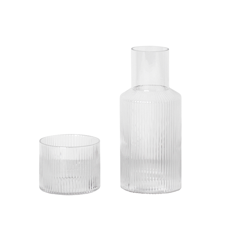 Carafe & verre Ferm living Set carafe et verre RIPPLE