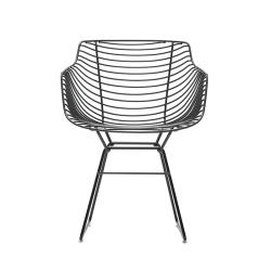 Chaise et petit fauteuil extérieur FLOW FILO MDF