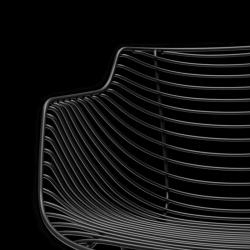 Chaise et petit fauteuil extérieur Mdf FLOW FILO SLIM
