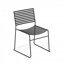 Chaise et petit fauteuil extérieur AERO EMU