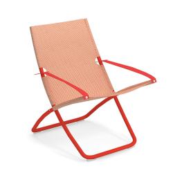 Chaise et petit fauteuil extérieur SNOOZE EMU