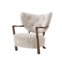 Fauteuil WULFF Noyer AND TRADITION