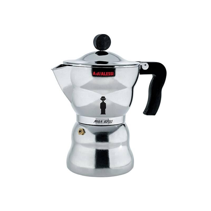 cafeti re espresso moka alessi caf th alessi silvera. Black Bedroom Furniture Sets. Home Design Ideas