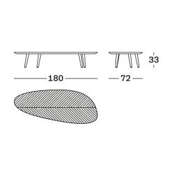 Table basse Zanotta TWEED MINI Large