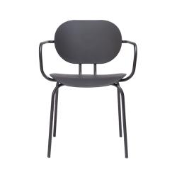 Chaise et petit fauteuil extérieur HARI PP outdoor avec accoudoirs ONDARRETA