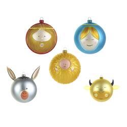Objet insolite & décoratif Set 5 boules de Noël PALLE PRESEPE ALESSI