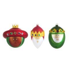 Objet insolite & décoratif Set 3 boules de Noël Palle Presepe : les rois mages ALESSI