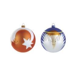 Accueil Set 2 boules de Noël Palle Presepe : ange et étoile filante ALESSI
