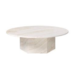 Table basse EPIC COFFEE Ø110 travertin blanc GUBI