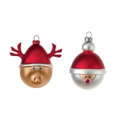 Objet insolite & décoratif Set de 2 boules de Noël BABBARENNA E BABBONATALE ALESSI