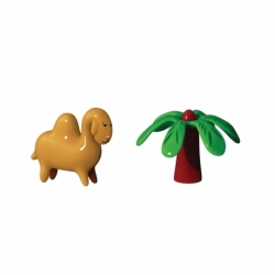 Accueil Set de 2 figurines  DARIO DROMEDARIO & PALMITA ALESSI