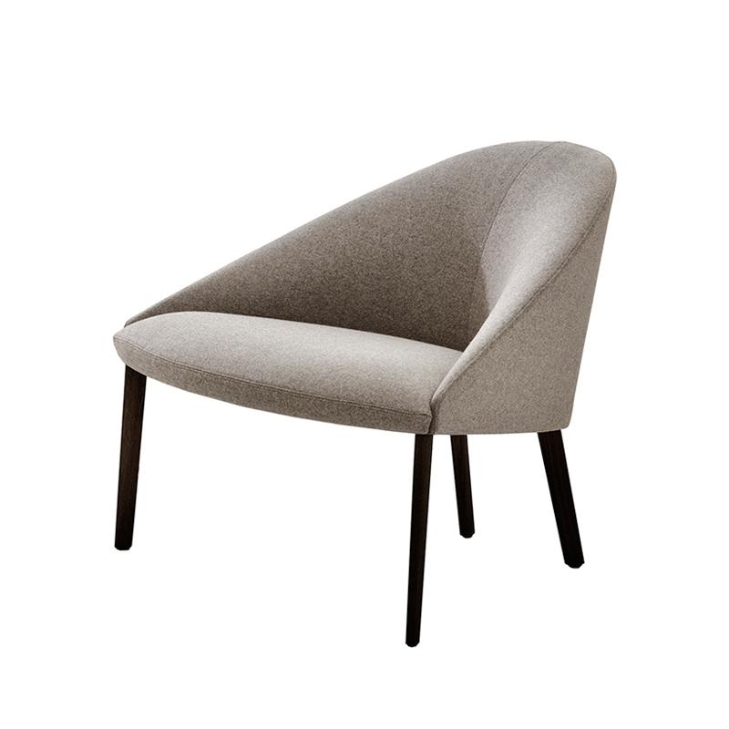 colina m pieds bois fauteuil arper silvera. Black Bedroom Furniture Sets. Home Design Ideas