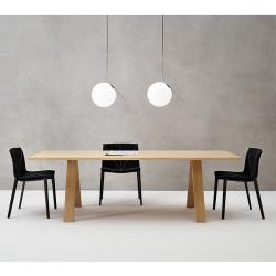 Table Arper CROSS 240x98 chêne