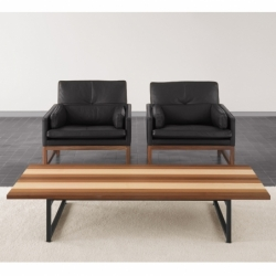 Table basse Bassamfellows STRIPE COFFEE TABLE