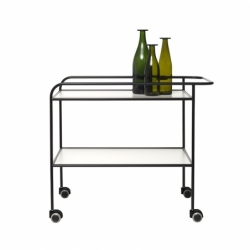 Table roulante Cappellini STEEL PIPE DRINK TROLLEY