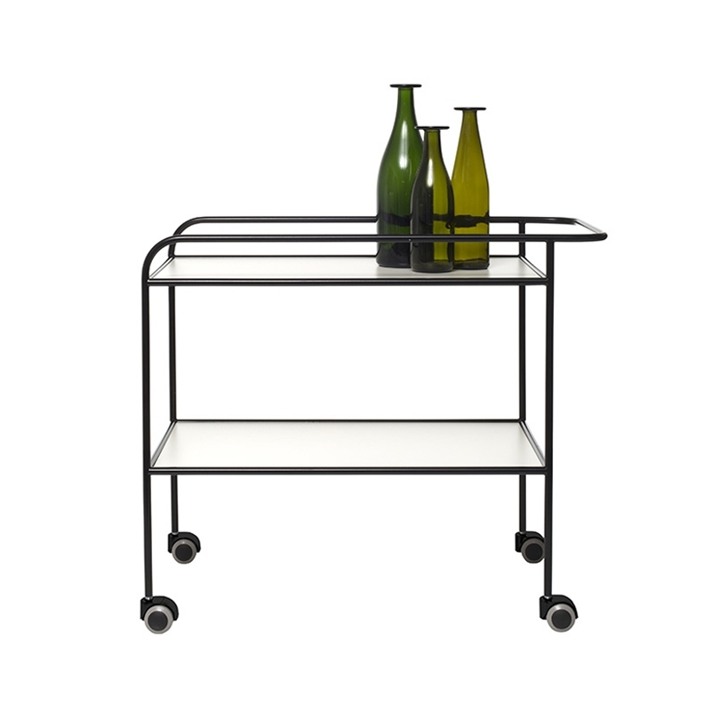 STEEL PIPE DRINK TROLLEY