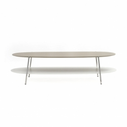 Table basse SHIKA L 140 piètement chrome COEDITION