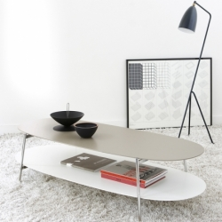 Table basse Coedition SHIKA L 140 piètement chrome