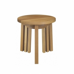 Table d'appoint guéridon Set de 3 tables empilables ALEX E15