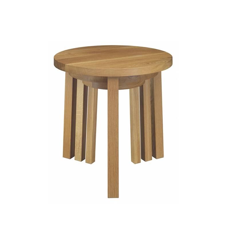 Table d'appoint guéridon E15 Set de 3 tables empilables ALEX