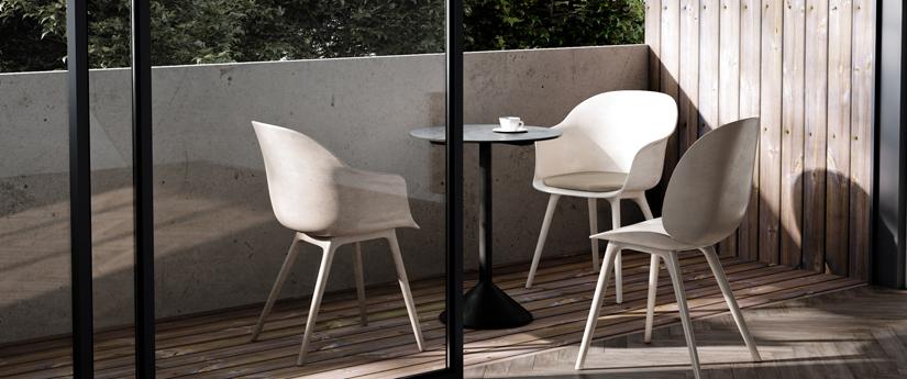 Chaise et petit fauteuil extérieur Design | Silvera Eshop