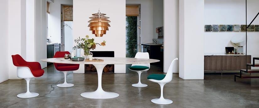 Knoll Paris France Table Saarinen Tulip Chaise