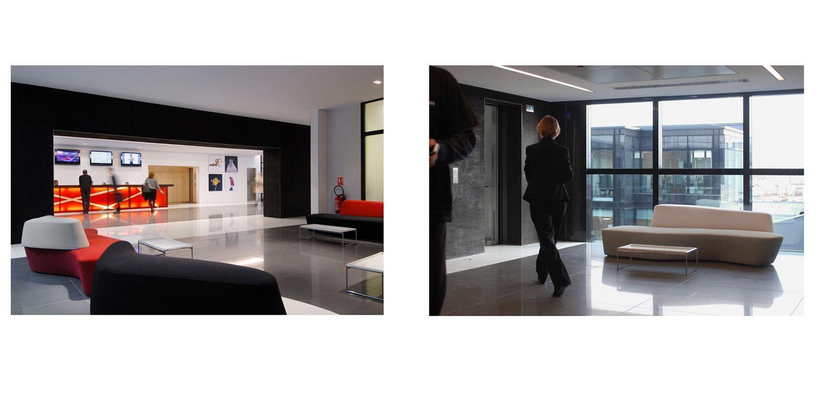 Projet d 39 am nagement meubles et accessoires design bureau open space silvera - Galeries lafayette meubles ...