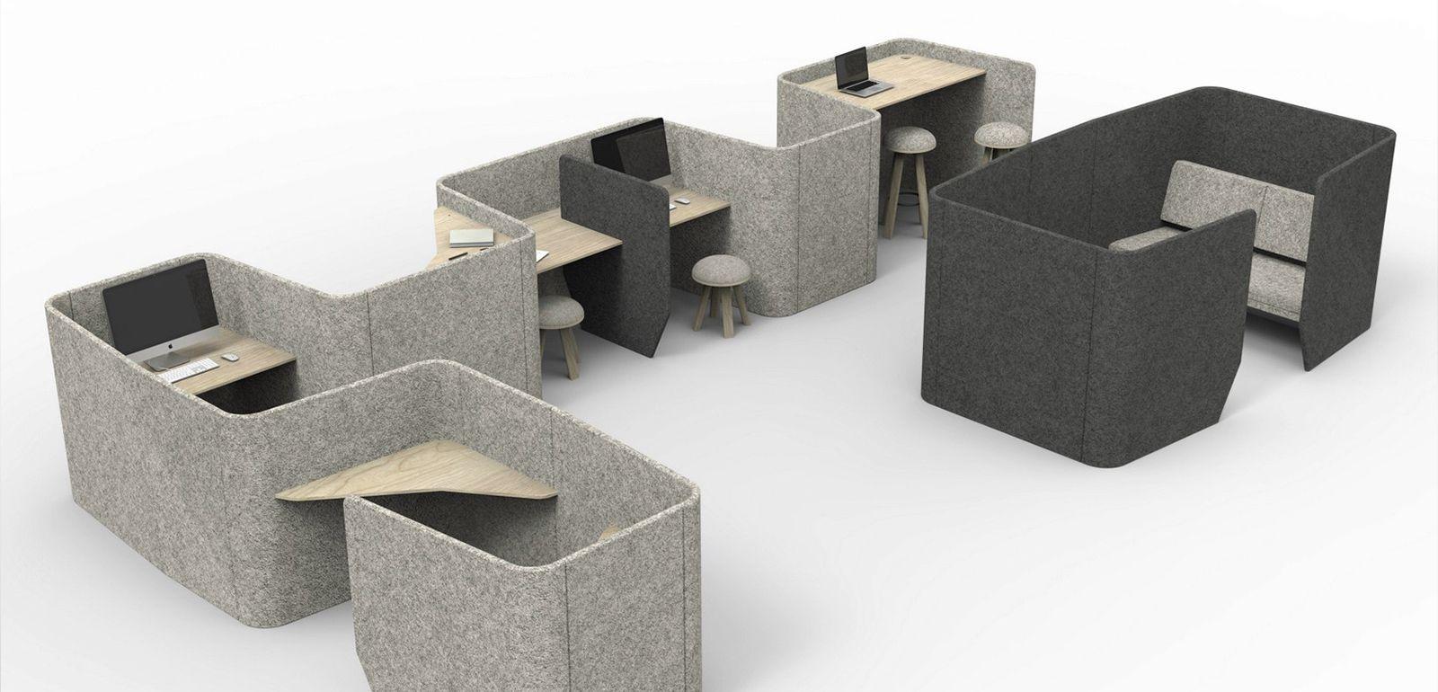 Mobilier de bureau design pour professionnel am nagement collectivit silvera - Design bureau de travail ...