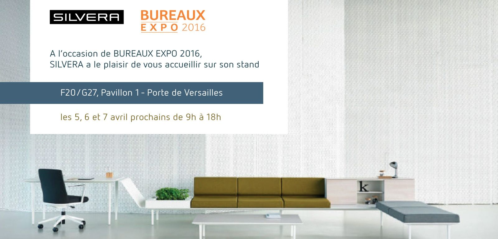 silvera au salon bureaux expo silvera. Black Bedroom Furniture Sets. Home Design Ideas