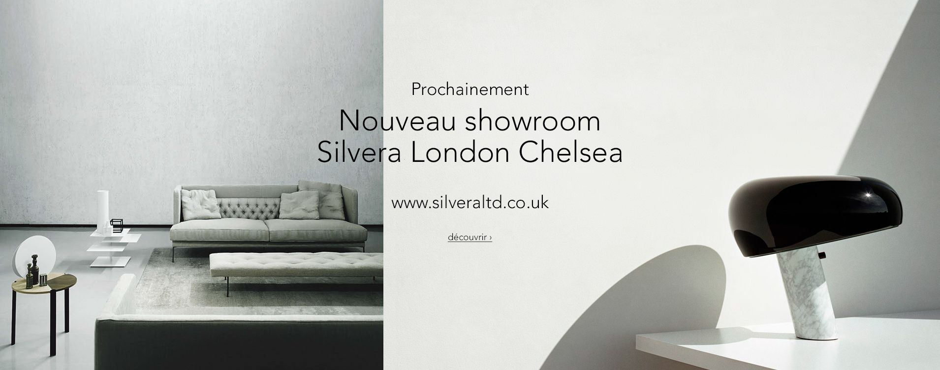 nouveau site internet en anglais et nouveau showroom a londres silvera. Black Bedroom Furniture Sets. Home Design Ideas